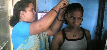 Thulasi with Helenma whom she lives with